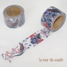 Washi Tape romantico pajaritos
