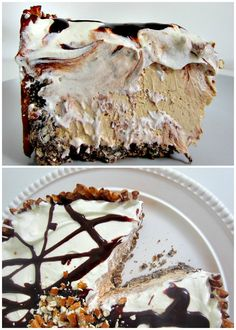 Cookie Butter Pie with Nutella Hot Fudge & Pretzel Crust   This practically no-bake pie is a simple showstopper.