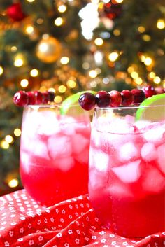 Pomegranate and Cranberry Margaritas