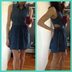 Polka Dot/ Cut out dress