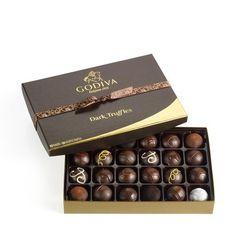 Godiva Chocolatier Dark Chocolate Truffles, 24 Count - http://bestchocolateshop.com/godiva-chocolatier-dark-chocolate-truffles-24-count/