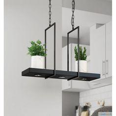 Lampa TRAY marki Markslöjd wykonana z metalu w kolorze czarnym lub białym, o długości 80 cm, szerokości 23 cm z 3 zintegrowanymi źródłami światła LED. - http://zlampami.pl/828-tray-lampa-wiszaca.html