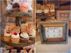 Rustic Wedding Cupcake Ideas   ... Paisley Photography / venue: Vive le Ranch, a Oklahoma Wedding Venue