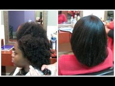 Straightening 4C Natural Hair: Light Press [Video] - http://community.blackhairinformation.com/video-gallery/natural-hair-videos/straightening-4c-natural-hair-light-press-video/