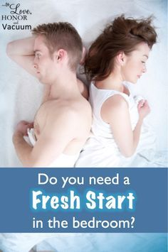 Do you need a fresh start in the bedroom? Sometimes we get lazy. We do things we regret--or we DON'T do things we wish we had. Here's how to get a sexual reset in your marriage--and help your marriage go in the right direction again with sex!