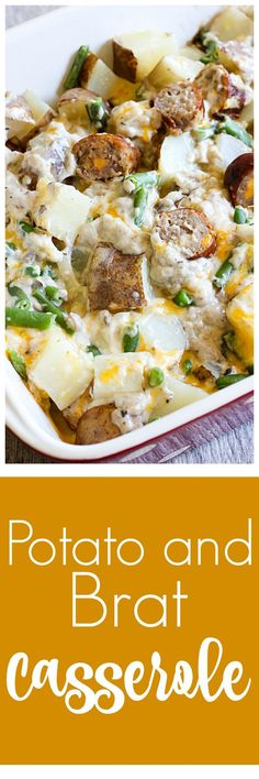 If you're looking for comfort food for the family, this Potato and Brat Casserole fits the bill. Potatoes, bratwurst and green beans make for one delicious casserole meal.