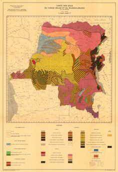Soil Map of the Belgian Congo and Ruanda-Urundi, 1958-59---yes I am a little bit of a nerd