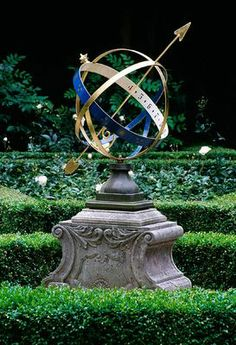 Armillary Sphere In An Amsterdam Private Knot Garden   Photo By Clive  Nichols