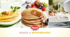 Hood® Milk Makes a Better Breakfast: Enter for a chance to win a $500 gift card toward a delicious breakfast with your family.