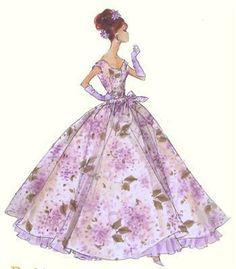 (¯`'•.ೋ…  Barbie Illustration  ...............................by Robert Best.  Violette Print