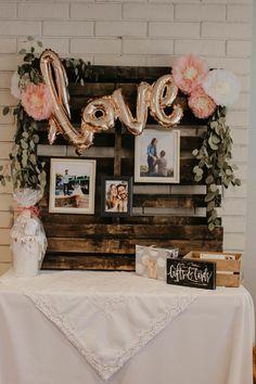 Beautiful Bridal Shower D cor Ideas Lindsey Wagner Bridal Shower Gifts For Bride, Bridal Shower Backdrop, Bridal Shower Tables, Wedding Shower Decorations, Bridal Shower Centerpieces, Bridal Shower Party, Rustic Bridal Shower Decorations, Party Decoration Ideas, Bridal Shower Prizes