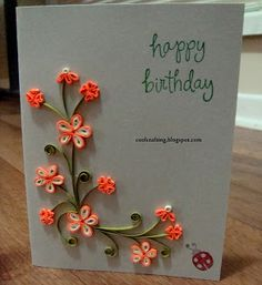 I like this idea for my birthday cards !              So I guess I have to get started ! ;)