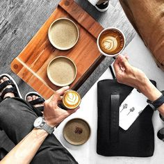 "More coffee - by @leochan_kh - Carry-On Folio Sleeve for 12"" Macbook available on mujjo.com or through resellers worldwide. #mujjo"