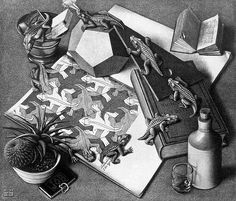 M.C. Escher (1898-1972) - Dutch Graphic Artist Why I love him: his eye for symmetry the extreme detail in all his work