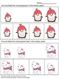 Sorting by Size Worksheets Penguins & Polar Bears Theme, Special Education Pre K Kindergarten Special Education, Early Childhood Education, Preschool Kindergarten, Math Literacy, Math Classroom, Penguins And Polar Bears, Bear Theme, Autism Resources, Blank Space