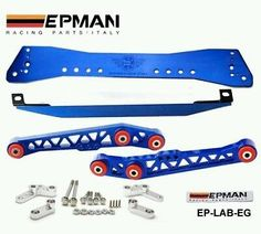 Honda Civic EG 88-95 Subrame Bar+Lower Tie Bar+Rear Lower Control Arm Kits  BLUE