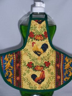 Image detail for -Rooster Flower Dish Soap Bottle Apron Cover Cozy by beeluckylady