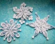 ASPEN snowflake Paper quilled ornament by OrnamentHouse on Etsy