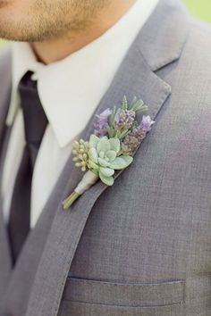 Succulent Boutonniere for the Groom                                                                                                                                                      More