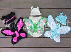Newborn Photo Prop Crochet Butterfly Swaddle Sack by JoellaCrochet