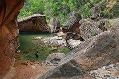 The Narrows in Zion National Park, photo by Misha Logvinov via Flickr.