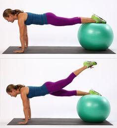 Plank Booty Leg Lifts | Best Exercises For Saddlebags | POPSUGAR Fitness Photo 4