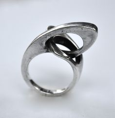 Nils Erik FROM Denmark Futuristic Sterling Ring, SOLD  https://www.etsy.com/listing/102677988/nils-erik-from-denmark-futuristic