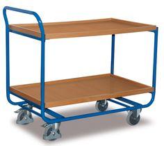 GTARDO.DE:  Stahl-Tischwagen, Tragkraft 200 kg, Ladefläche 970 x 570 mm, Maße 1090 x 600 x 970 mm, Rad 125 mm 206,00 €