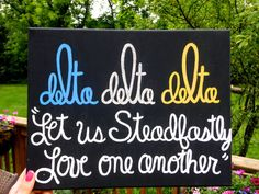 Delta Delta Delta Tridelt Sorority Canvas by SweeeetSerendipity This is SO aesthetically pleasing