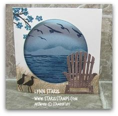 Tri Fold or Triple Fold Card using the High Tide stamp set and the Colorful Seasons bundle http://www.starzlstamps.com/2017/05/tri-fold-card-using-the-high-tide-stamp-set-and-the-colorful-seasons-bundle.html