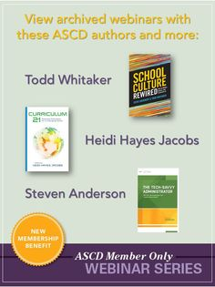 ASCD member-only webinars give you access to leading #education authors and experts for top-notch #ProfDev. Catch up on all the sessions!