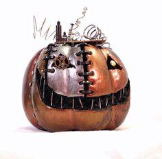 Steampunk Clockwork Halloween Pumpkin by MelsMakeBelieve on Etsy