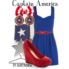 """Captain America"" by lalakay on Polyvore #disney"