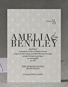 Alchemy Wedding Invitation by honey-paper.com #wedding #modernwedding