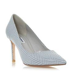 DUNE LADIES ABBIGAIL - Pointed Toe Mid Heel Court Shoe - grey | Dune Shoes Online