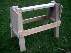 Free Saw Horse Plans - How To Build A Saw Horse