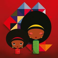 Two afro ladies..