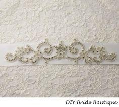 Crystal applique rhinestone applique wedding by DIYBrideBoutique, $26.99