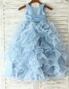 Princess/Sheath/Column Floor-length Flower Girl Dress - Organza Sleeveless 2016 - $69.99