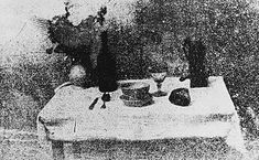 Nicéphore Niepce, The serving table, 1826 (One of the first photos ever taken)
