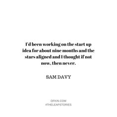 Hmmm nine months seems about the right time to birth a business! What might you have created nine months from now?  . Grab a copy of #theleapstoriesbook via the link in our profile to plot your leap and access exclusive product by-only content. .  #ofkin #theleapstories @pass_a_ball #samdavy #businessgestation #businessbaby #ifnotnowwhen #nowornever