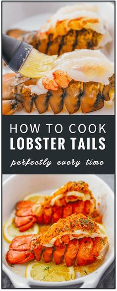 Learn how to cook lobster tails with lemon garlic butter and a parmesan bread crumb topping via broiling in the oven. broil lobster tails, steamed, pastry, how to boil, baked, recipe, dinner, romantic, valentine's day, frozen lobster tail, butterfly lobster tail, grilled, easy, how to cook, steamed keto / low carb / diet / atkins / induction / meals / recipes / easy / dinner / lunch / foods / healthy / gluten free / paleo #keto #lowcarb