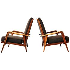 Pair of Armchairs by Etienne-Henri Martin - Steiner Paris 1937 | From a unique collection of antique and modern armchairs at http://www.1stdibs.com/furniture/seating/armchairs/