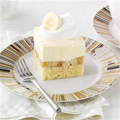Bananas & Cream Pound Cake Recipe -This dessert got me a date with my future husband. At a church event, he loved it so much, he asked for another piece. The rest is history! —Courtney Farnon, Cartersville, Georgia