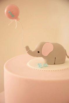 Unbelievably cute little elephant cake