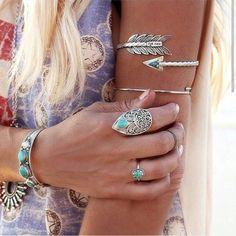 Acessórios prata com turquesa ❤