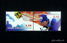 Hiihdon MM-kilpailut Lahdessa - Vintageunelmia - Finnish vintage blog Postage Stamps, Finland, Baseball Cards, Blog, Vintage, Vintage Comics, Stamps, Primitive