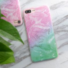 Modern Marbled Design iPhone Cases - Soft TPU Case for iPhone 6 6s 6plus 7 7plus