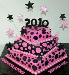 polka dots, cake idea, high school graduation, graduation party cake, graduation cake, party cakes, graduation parties, dessert, graduat parti