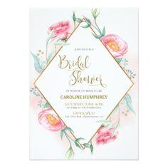 #bachelorette #party #invitations - #Bridal Shower Invitation - Pink Florals